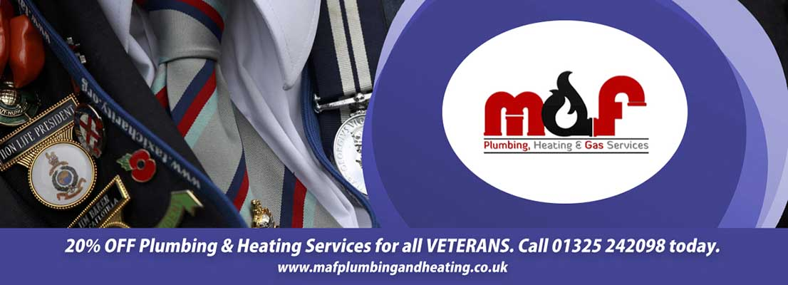 Plumbing and Heating Discounts in Darlington for Veterans
